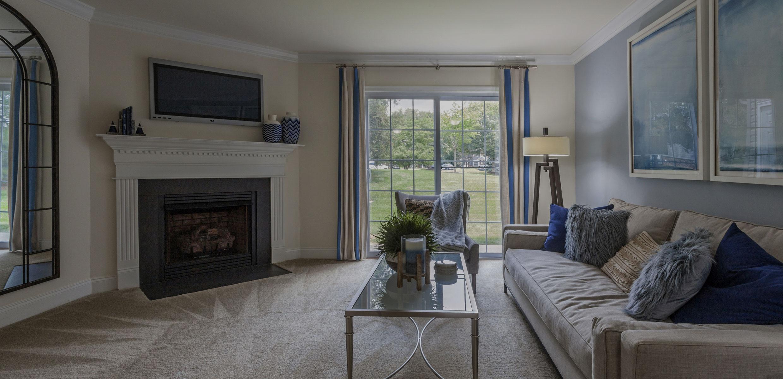 Living Room at Thomas Meeting Apartments
