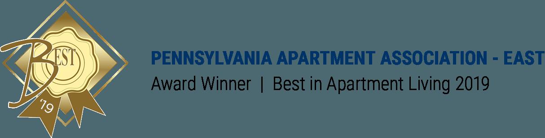 Pennsylvania Apartment Association - East Award Winner Best in Apartment Living 2019